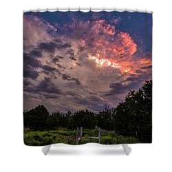Texas Sunset Shower Curtain