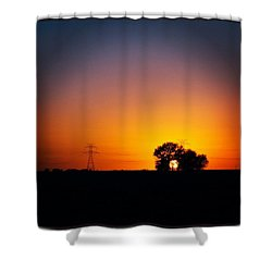 Texas Sunset #photooftheday #instagood Shower Curtain by Sean Wray