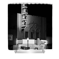 Texas Theater Oak Cliff Bw Shower Curtain