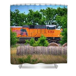 Texas Train Shower Curtain