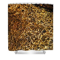Shower Curtain featuring the photograph Texture Of A Stream by Lynda Lehmann