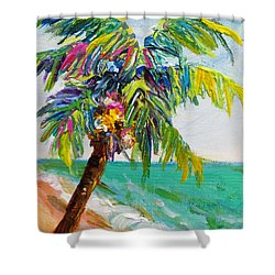 Texture Palm Shower Curtain by Anne Marie Brown