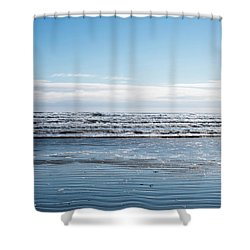 Textured Blues Shower Curtain