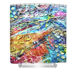 Textured Color Play 2 Shower Curtain