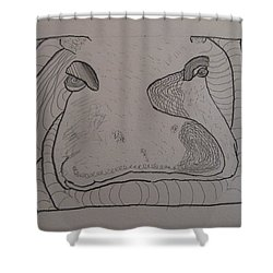 Textured Hippo Shower Curtain