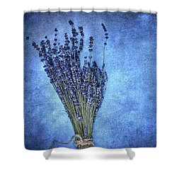 Shower Curtain featuring the photograph Textured Lavender  by Stephanie Frey