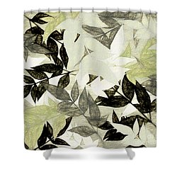 Shower Curtain featuring the digital art Textured Leaves Abstract By Kaye Menner by Kaye Menner