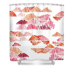 Textured Lines Shower Curtain