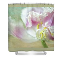 Textured Tulip Shower Curtain