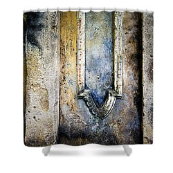 Shower Curtain featuring the photograph Textured Wall by Marion McCristall