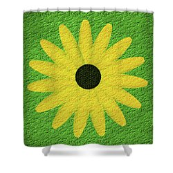Textured Yellow Daisy Shower Curtain