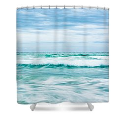Textures In The Waves Shower Curtain by Shelby  Young