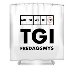 Tgi Fredagsmys Shower Curtain