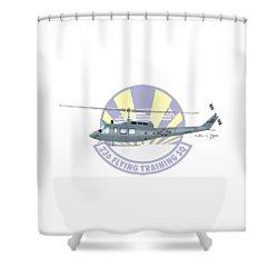 Shower Curtain featuring the digital art Th-1h 23fts Huey by Arthur Eggers