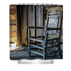 Thacker Cabin Chair Shower Curtain
