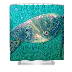 Shower Curtain featuring the painting Thaddeus The Turtle by Erika Swartzkopf