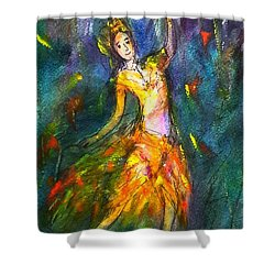 Thai Dancing Shower Curtain
