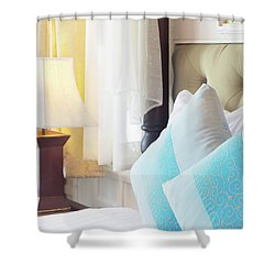 Shower Curtain featuring the photograph Thai Style Bedroom by Atiketta Sangasaeng