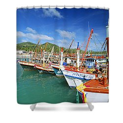 Thailand, Koh Phangan Shower Curtain by William Waterfall - Printscapes