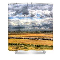 Thames Estuary View Shower Curtain