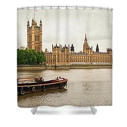 Thames Shower Curtain by Keith Armstrong