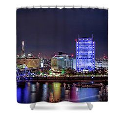 Thames Panorama Shower Curtain