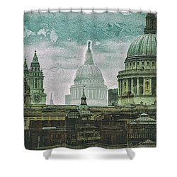 Thamesscape 2 -  Ghosts Of London Shower Curtain