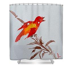 Thank You Bird Shower Curtain