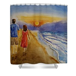 Thank You Love Shower Curtain by Geeta Biswas