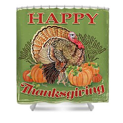 Shower Curtain featuring the painting Thanksgiving-b by Jean Plout