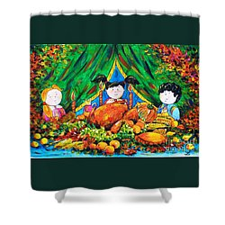 Thanksgiving Day Shower Curtain