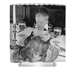 Thanksgiving Dinner Shower Curtain by American School