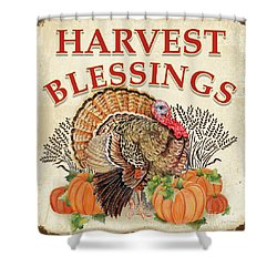 Shower Curtain featuring the painting Thanksgiving-e by Jean Plout