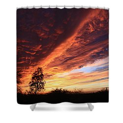 Thanksgiving Sunset Shower Curtain
