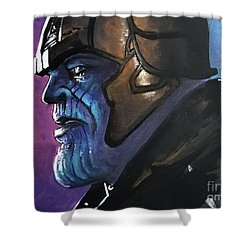 Thanos Shower Curtain by Tom Carlton
