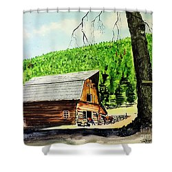 That Barn From That Movie Shower Curtain