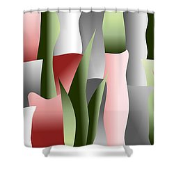 That Crimson Glow Shower Curtain by Tara Hutton