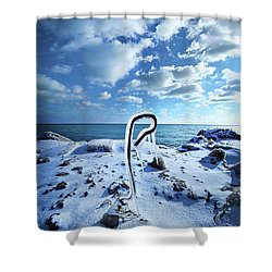 Shower Curtain featuring the photograph That One Weird Thing by Phil Koch