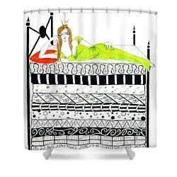 That Pesky Pea Shower Curtain