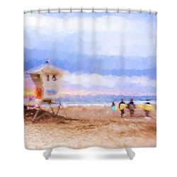 That Was Amazing Watercolor Shower Curtain