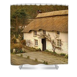 Thatched Cottage By Ford  Shower Curtain by Richard Brookes