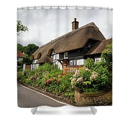 Thatched Cottages In Micheldever Shower Curtain