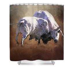 Shower Curtain featuring the photograph That's A Lot Of Bull by Donna Kennedy