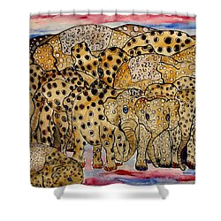That's Alot Of Elephants Shower Curtain