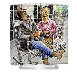 That's Why God Made Rocking Chairs Shower Curtain