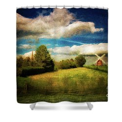 Thaxted With Millpond Shower Curtain