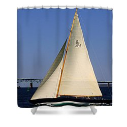 The 12 Meter Newport Shower Curtain