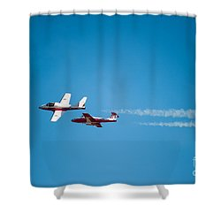 The 2 Snowbirds Shower Curtain