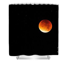 The 2015 Blood Moon  Shower Curtain by Gary Bridger