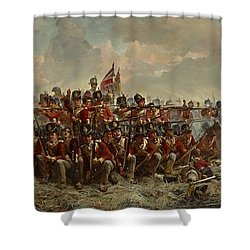 Shower Curtain featuring the painting The 28th Regiment At Quatre Bras by Elizabeth Butler